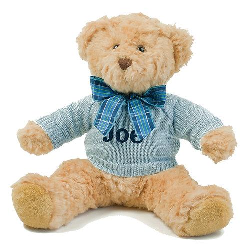 Small Bracken Teddy Bear With Knitted Jumper