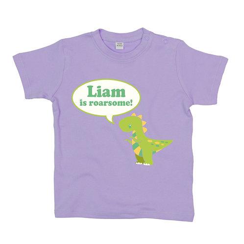 Personalised Baby Dinosaur T-Shirt