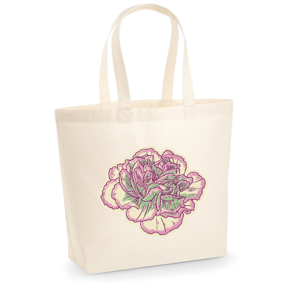 Canvas bags with birth month flowers