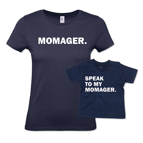 'Momager' Mum & Child T-Shirt Set