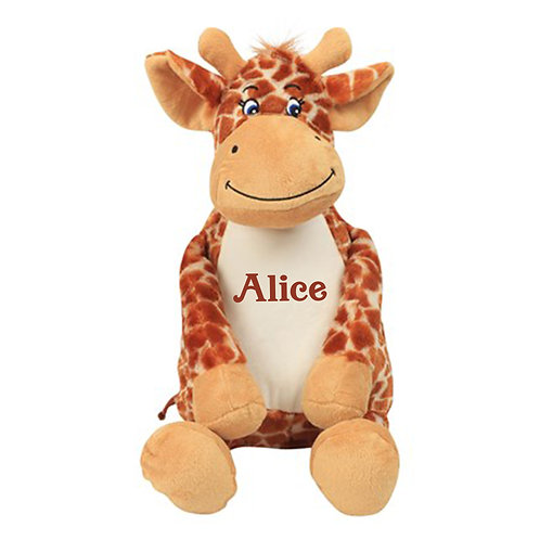 Personalised Giraffe Teddy