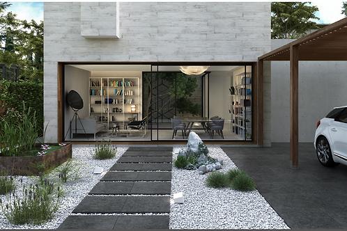 Stonetech Black 600x600x20mm - Exterior balcony tile for pedestal support
