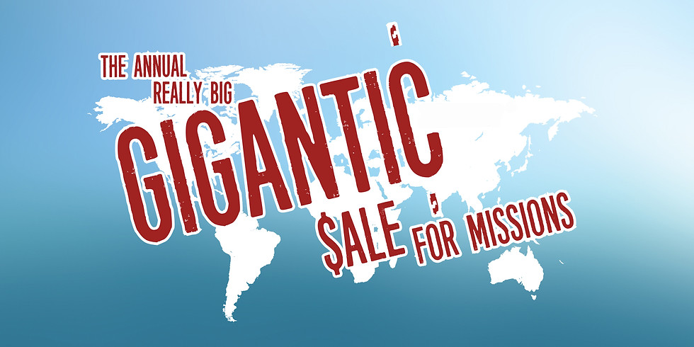 Gigantic Sale for Missions