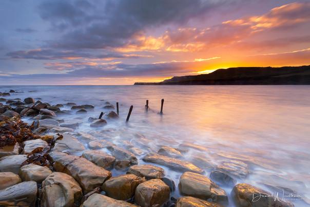 Sunset Over Stones