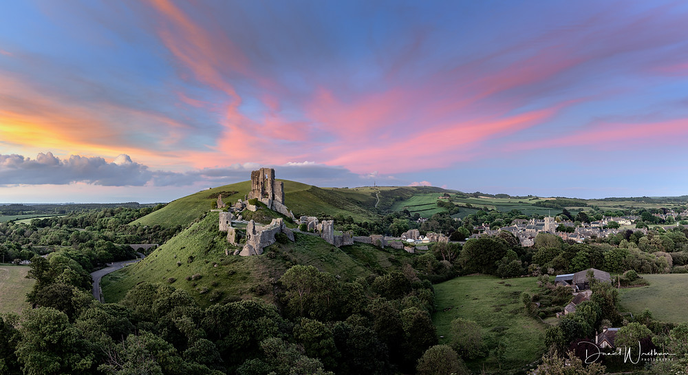 Corfe Castle Sunset