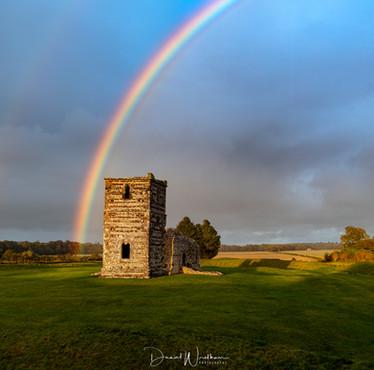 Rainbow at Knowlton Church