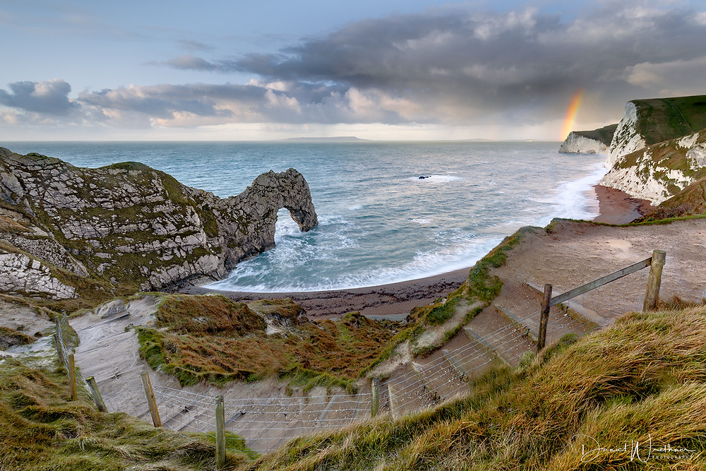 Rainbow at Durdle Door