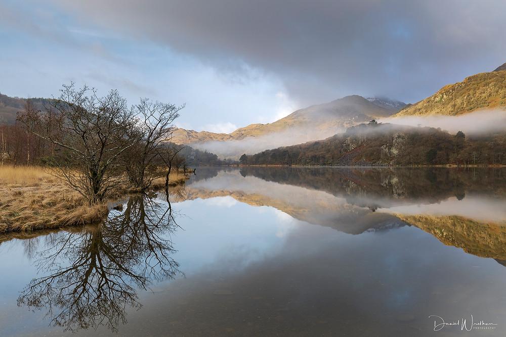 Snowdonia, Sunrise, Mist, Landscape photography, Daniel Wretham, Llyn Gwynant, Wales