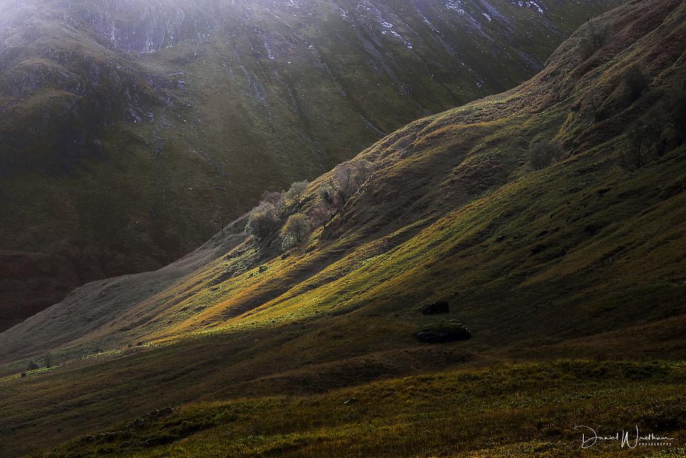 Glencoe Light, Scottish landscape