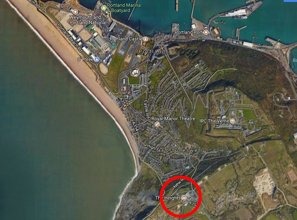 Map or Portland dorset