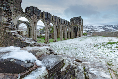 Winter at Llanthony Priory