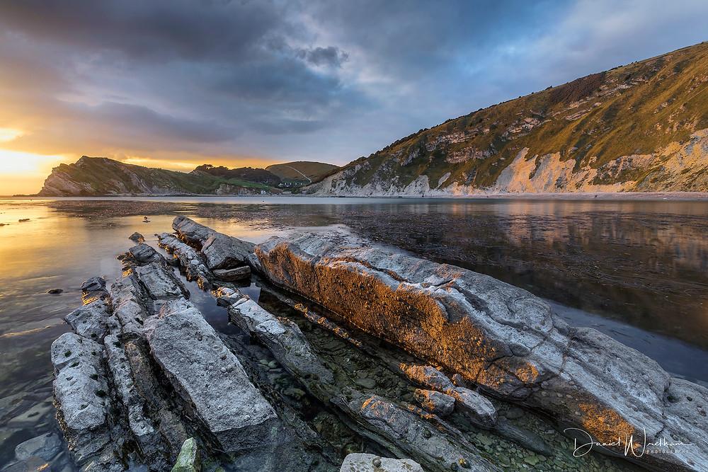 Lulworth Cove Ledges Sunset, Best landscape photography locations