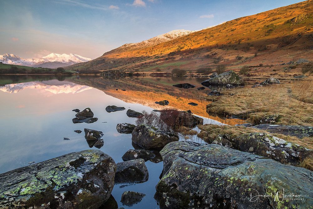 Snowdonia, Snowdon, Llyn Mymbyr, Rocks, Light, Mountains, Snowdonia Landscape Photography, Daniel Wretham