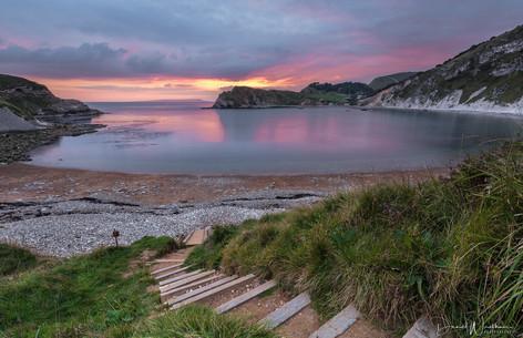Lulworth Steps Sunset