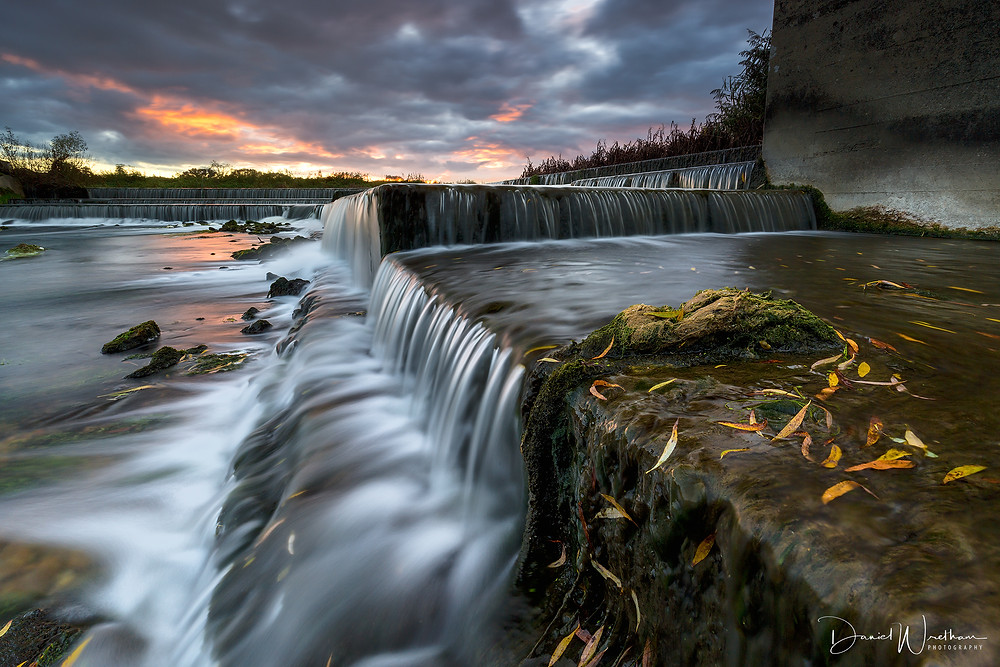 daniel wretham, landscape photography, waterfall, sunset, sunrise, lee filters, dorset, river