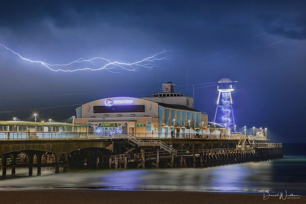 Lightning, Bournemouth Pier Lightning, Lightning over bournemouth pier, Dorset lightning