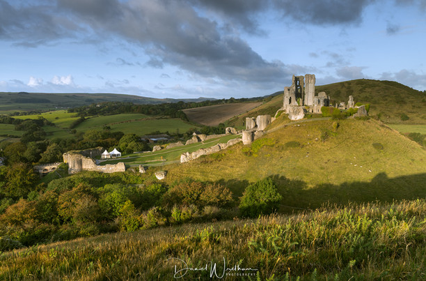 Corfe Castle From East Hill