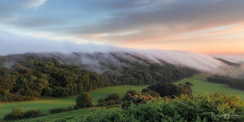 Mist, Dorset Mist, Purbecks, Purbeck Mist, Sunset Mist