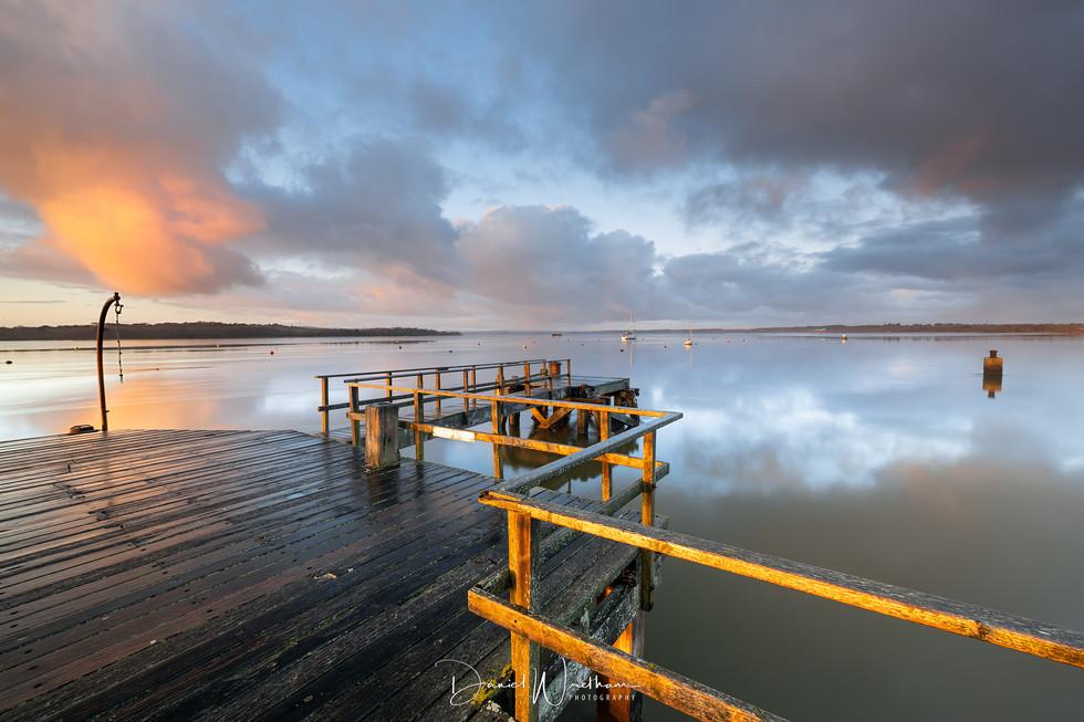 Morning Light at Lake Pier