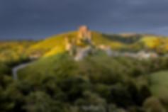 Last Light on Corfe Castle