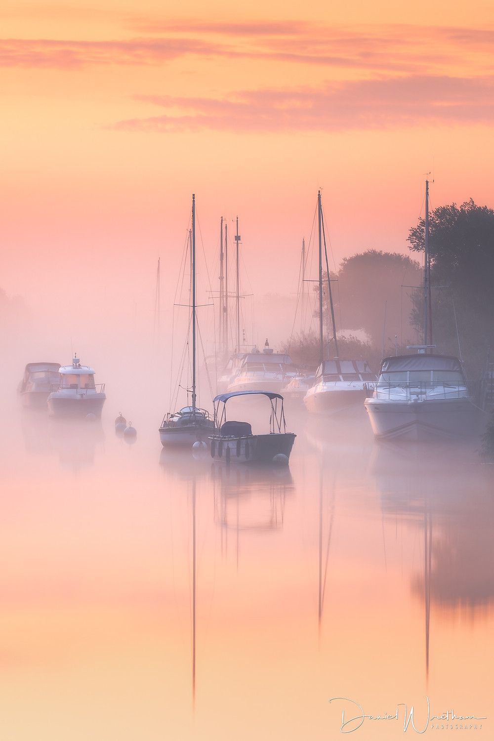 River Frome Misty Sunrise