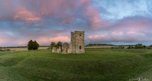 Knowlton Church Sunset Panorama
