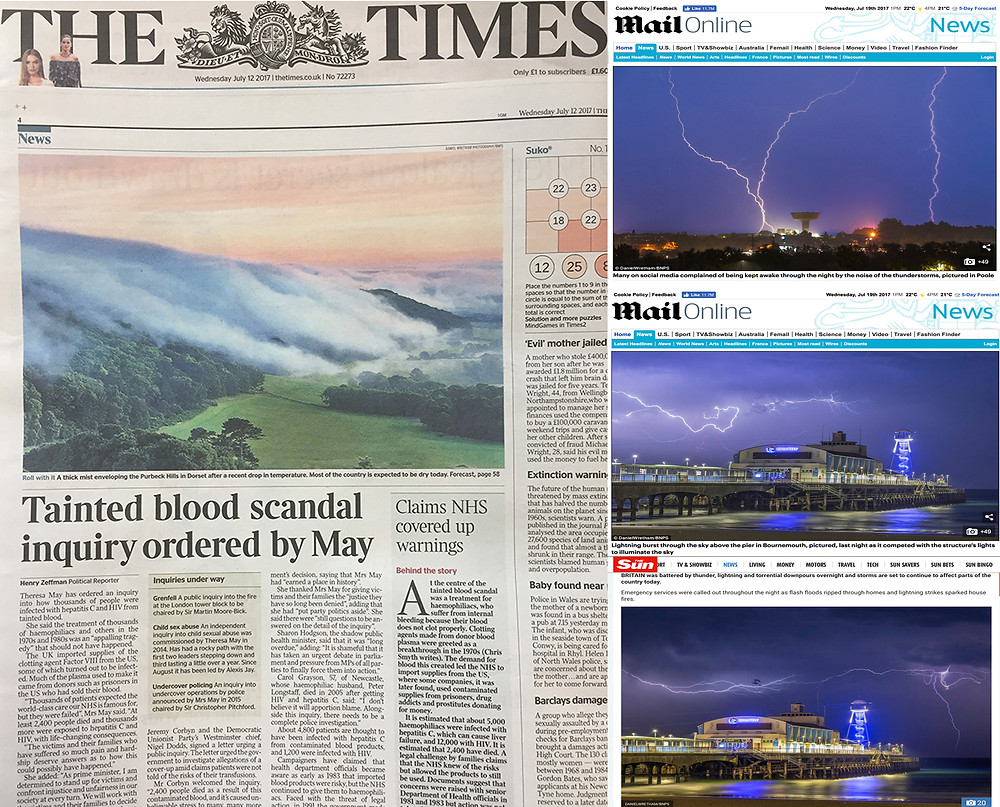 Landscape Photography Blog, Daily Mail, The Sun,
