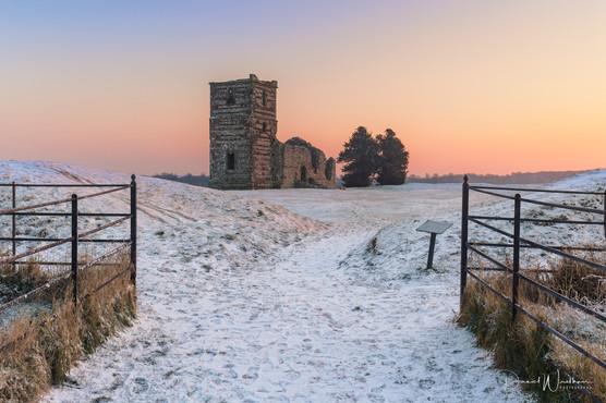 Sunrise Over Snow
