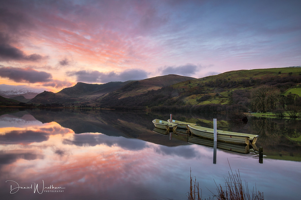 Snowdonia, Crib Goch, Snowdon View, Landscape Photography, Blog, Daniel Wretham, Light, Photographing Snowdonia, llyn Nantlle, sunrise, sunset, boats