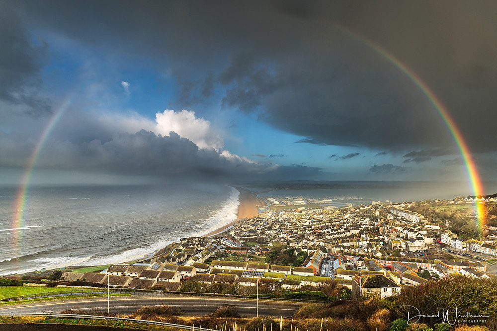 how to photograph rainbows, dorset rainbow