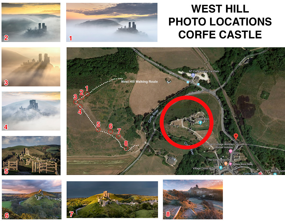 Corfe Castle Photo Locations