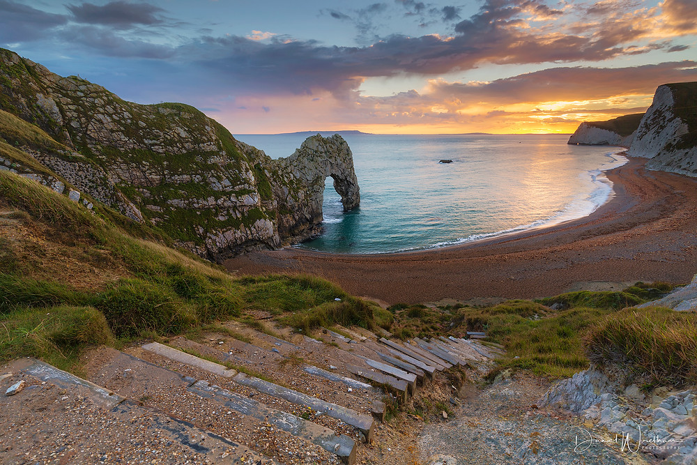 Durdle Door Stairs, Landscape photography, Dorset
