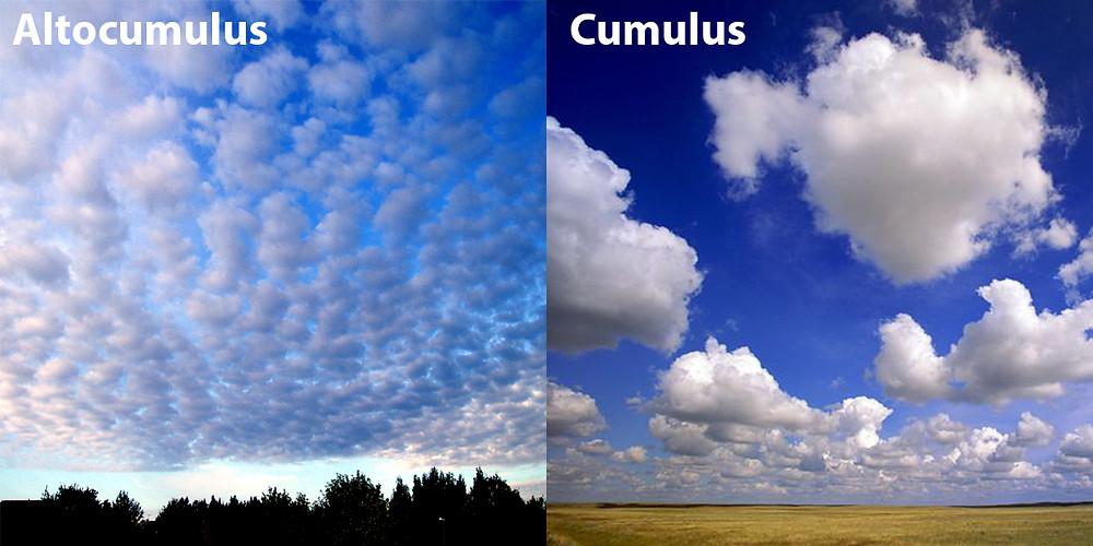 Altocumulus Cumulus clouds