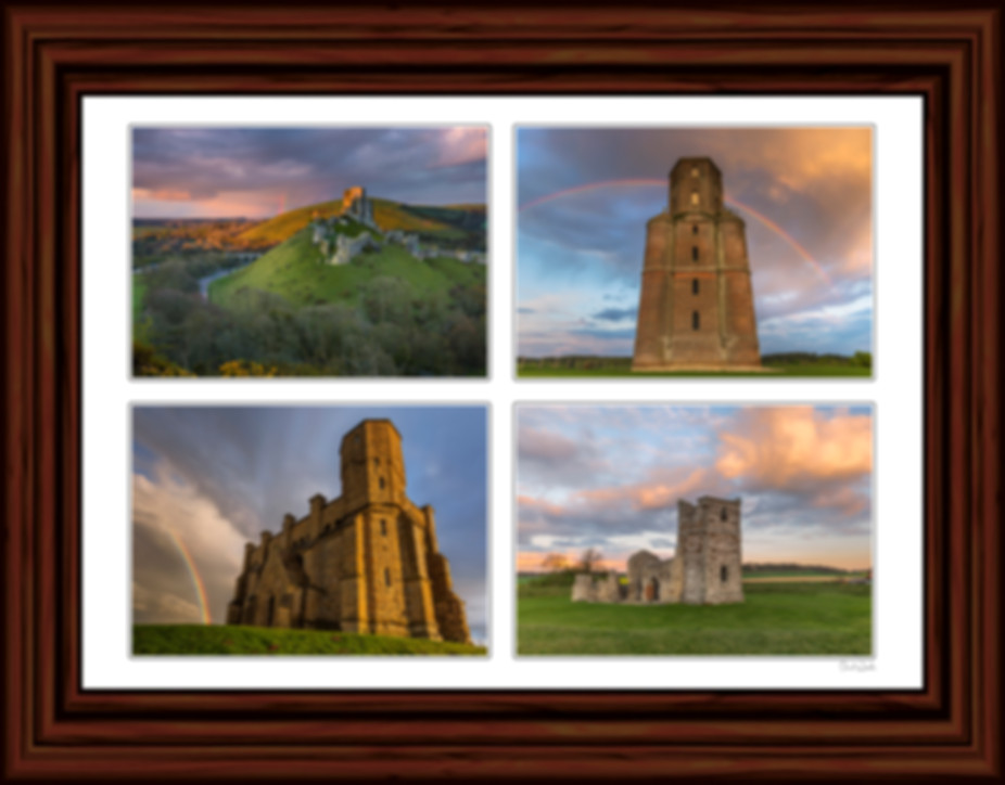Corfe Castle Pictures, Horton Tower Picture, St Catherine's Chapel Picture, Knowlton Church Picture