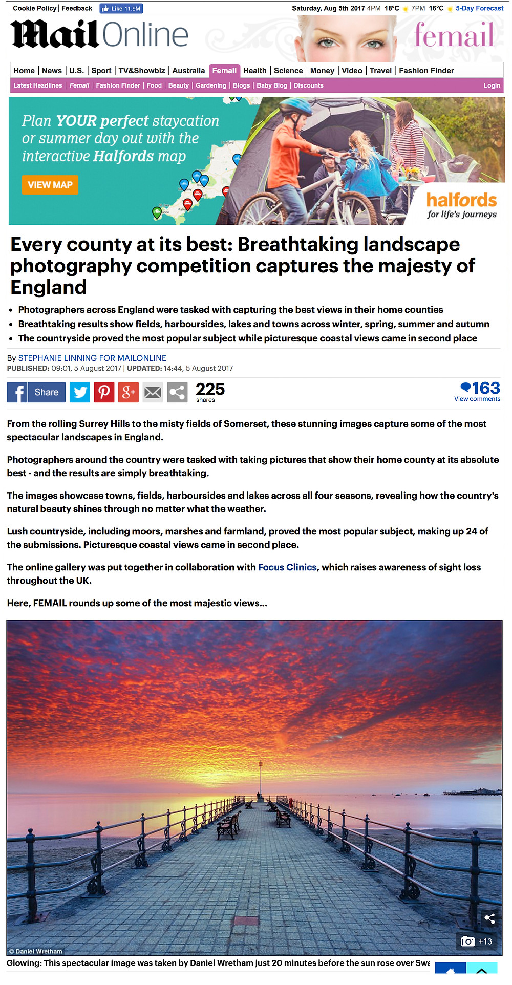 Dorset Landscape Photography, Daniel Wretham, Daily Mail