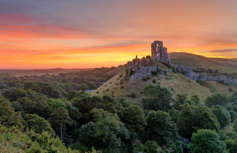 Corfe Castle Sunrise 2
