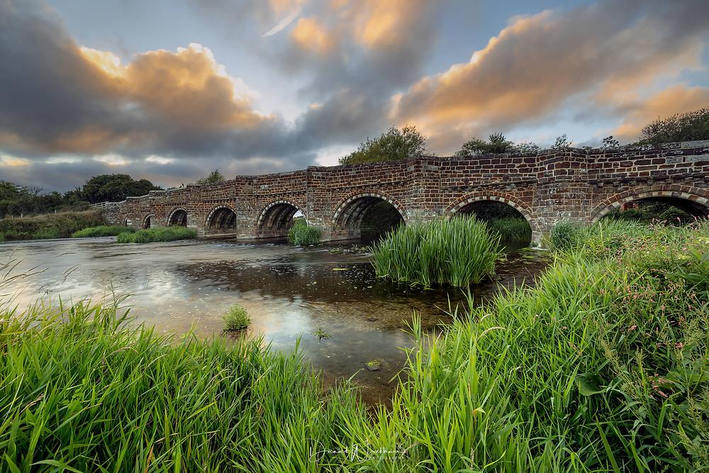 White Mill Bridge Sunset