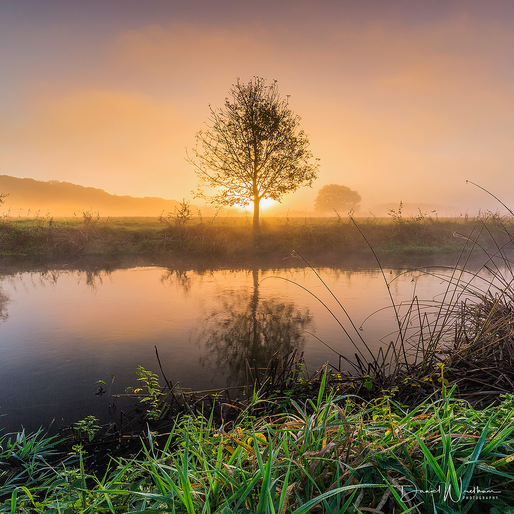 Amazing sunset, landscape photography, sunrise, sunset, dorset sunset, mist, lee filters