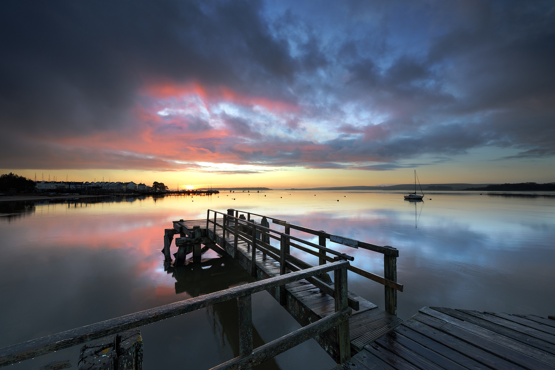 Sunrise at Lake Pier
