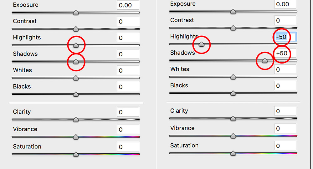 Photoshop Shadow & Highlight adjustment
