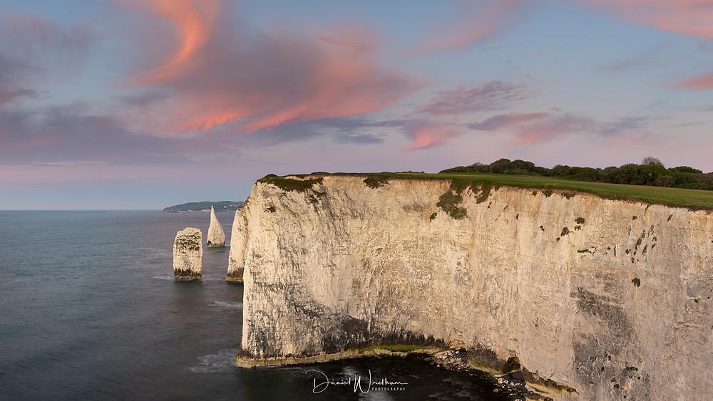 Old Harry Rocks Pinnacles Sunrise