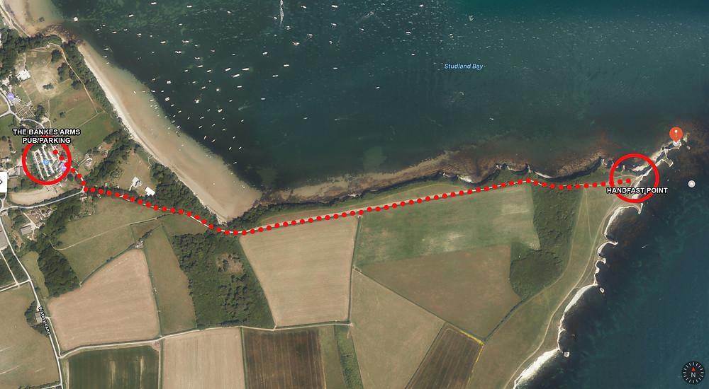 Old Harry Rocks Walk Route