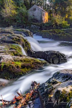 Last Light at Cenarth Falls