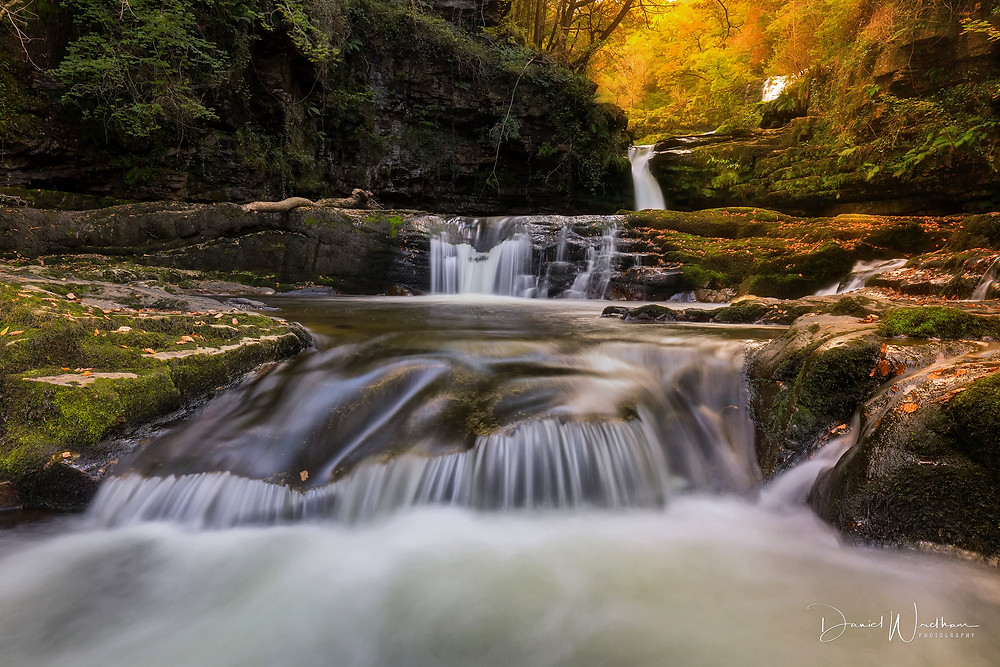 daniel wretham photography, landscape photography, waterfall, autumn, water, long exposure, lee filters