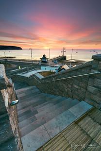 Sunrise over Steps
