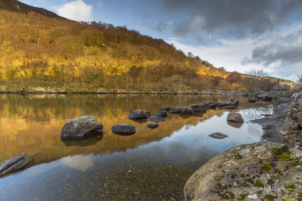 Winter Light at Llyn Crafnant