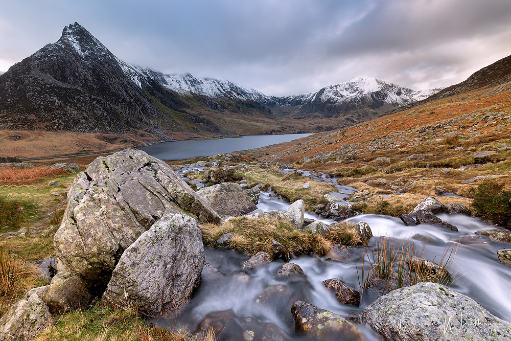 tryfan, ogwen valley, waterfall, snowdonia, landscape photography blog, Daniel Wretham, Wales,