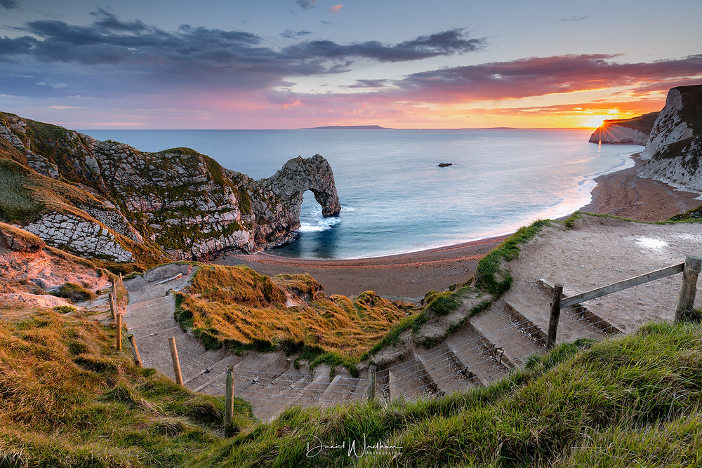 Durdle Door Sunset, Dorset Landscape photography Locations