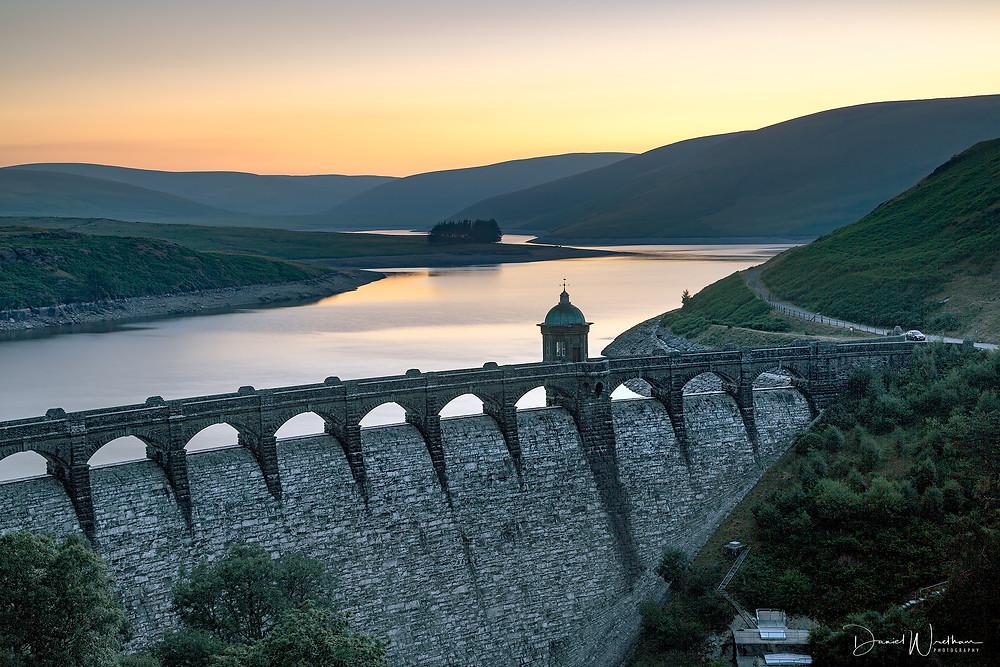 Craig Goch Dam Sunrise, Elan Valley, Wales