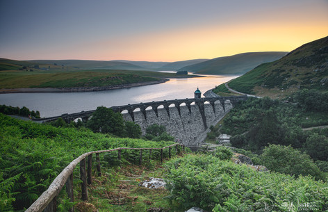 Looking Over Craig Goch Dam